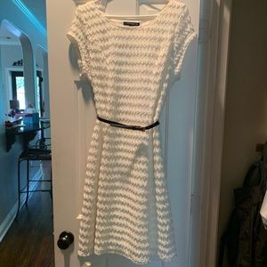 Sharagno Lace Fit and Flare Dress w/ Belt- 14